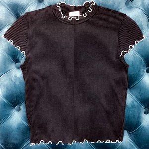 ⭐️ Aritzia Sunday Best Black & White Crowne Shirt